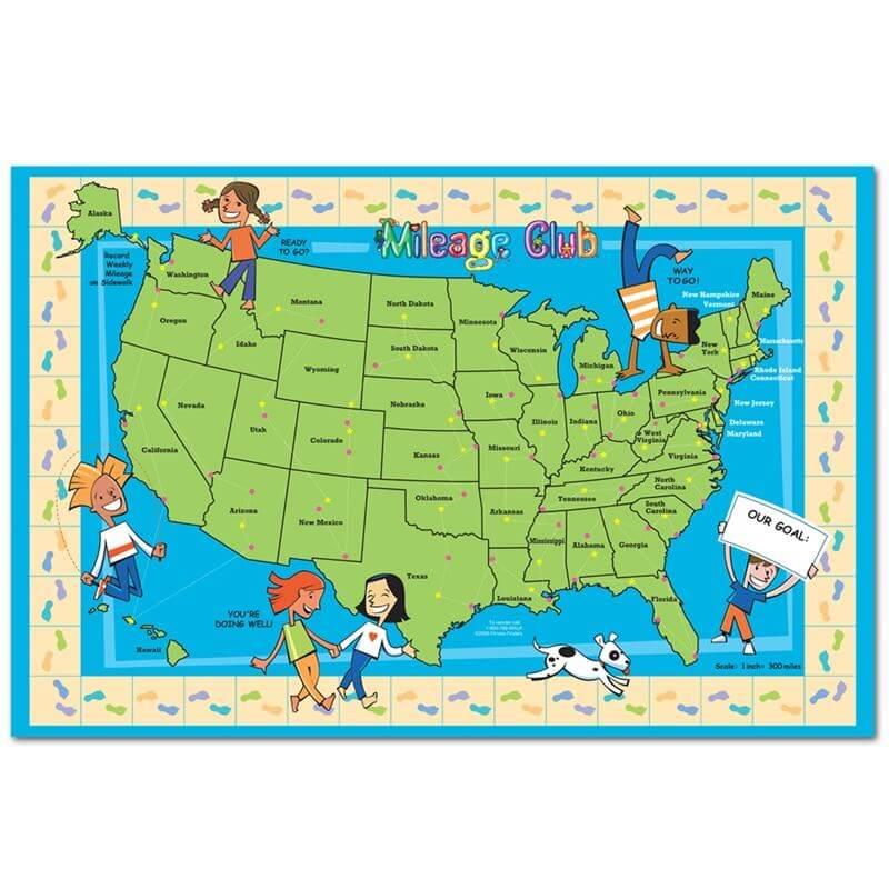 Run Usa Map.Fitness Finders Inc Mileage Club Map