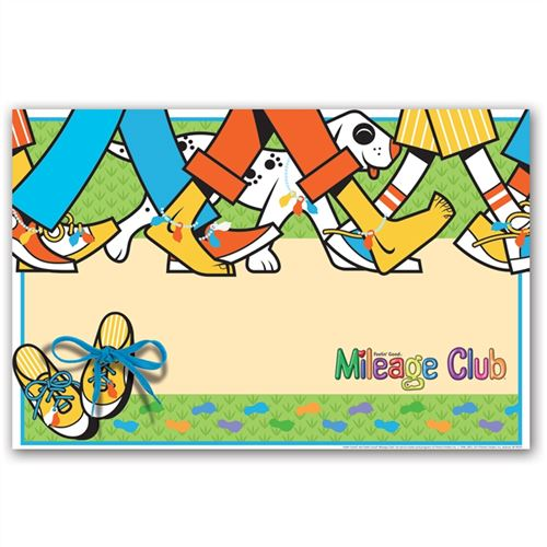 Student Running Clubs - Mileage Club Poster