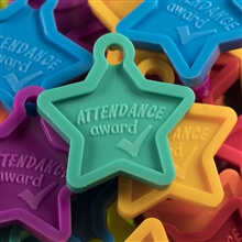 Attendance Award - Tropical Attendance Star