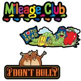 Wall Clings - Mileage Club, I Don't Bully and I Love to Read