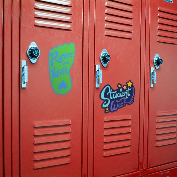 Locker Decals School Locker Stickers Fitness Finders