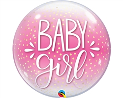 Baby Girl Pink Confetti Bubble