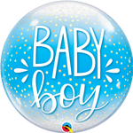Baby Boy Blue Confetti Bubble