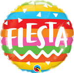 "Qualatex 10244 18"" Round Fiesta Stripes Foil"