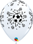 "11"" Round White Soccer Ball"
