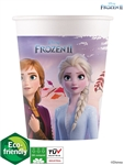 FROZEN 2 CUPS PAPER 200ML (8 PER PACK) COMPOST