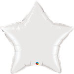 "36"" Star White Foil Balloon"