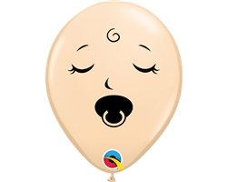 "5"" Round Blush Sleeping Pacifier Baby Face Latex"