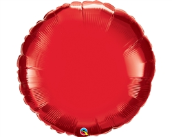 "36"" Round Ruby Red Foil"