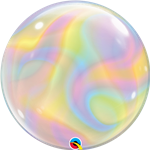 Qualatex 13081 Single Bubble Iridescent Swirls