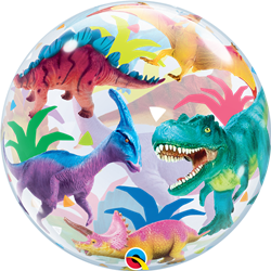 Qualatex 13088 Single Bubble Dinosaurs