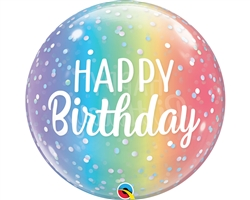 Qualatex 13232 Single Bubble Ombre Birthday