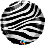 "Qualatex 13354 18"" Zebra Stripes Foil"