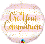 Qualatex 13439 On Your Communion Pink Foil