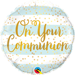 Qualatex 13445 On Your Communion Blue Foil