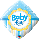 Baby Boy Dots and Stripes Foil