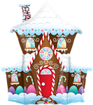 "Qualatex 14945 37"" Gingerbread House Foil"