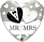 Wedding Foil Ballons Mr & Mrs
