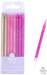 CANDLE: PINK & GOLD PICK STICK CANDLES