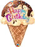 "27"" BIRTHDAY ICE CREAM CONE FOIL"