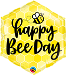"Qualatex 16433 20"" Hexagon Happy Bee Day Foil"