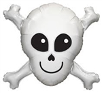 "40"" SUPER SHAPE HAPPY SKULL FOIL"