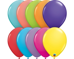 "11"" RETAIL LATEX TROPICAL ASSORTMENT (6 BAGS OF 6 BALLOONS PER BAG)"