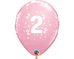 "11"" RETAIL LATEX AGE 2/PINK (6 BAGS OF 6 BALLOONS PER BAG)"