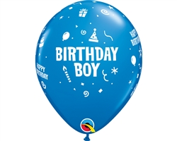 "11"" RETAIL LATEX BIRTHDAY BOY (6 BAGS OF 6 BALLOONS PER BAG)"