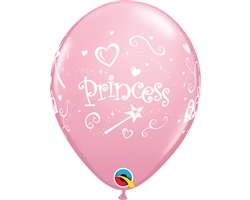 "11"" RETAIL LATEX PRINCESS/PINK (6 BAGS OF 6 BALLOONS PER BAG)"