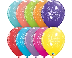 "11"" RETAIL LATEX WELCOME HOME (6 BAGS OF 6 BALLOONS)"