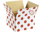 Polka Dot Balloon Box Red