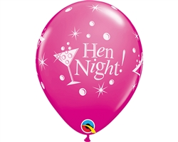 "11"" RETAIL LATEX HEN NIGHT BUBBLY (6 BAGS OF 6 BALLOONS PER BAG)"