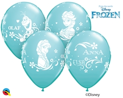 "12"" RETAIL LATEX  ANNA, ELSA, & OLAF (6 BAGS OF 6 BALLOONS PER BAG)"