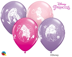 "12"" RETAIL LATEX  DISNEY PRINCESS CAMEOS (6 BAGS OF 6 BALLOONS PER BAG)"
