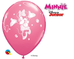 "12"" RETAIL LATEX MINNIE (6 BAGS OF 6 BALLOONS PER BAG)"