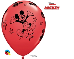 "12"" RETAIL LATEX  MICKEY (6 BAGS OF 6 BALLOONS PER BAG)"