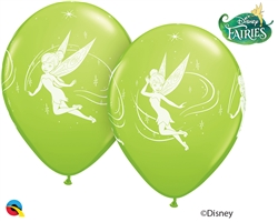 "12"" RETAIL LATEX  DISNEY TINKER BELL (6 BAGS OF 6 BALLOONS PER BAG)"