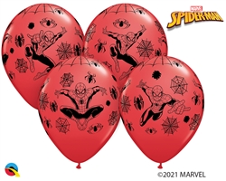 "12"" RETAIL LATEX  MARVEL'S SPIDER-MAN (6 BAGS OF 6 BALLOONS PER BAG)"