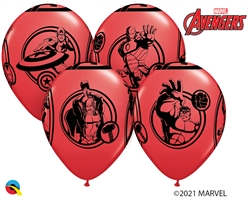 "12"" RETAIL LATEX  MARVEL'S AVENGERS (6 BAGS OF 6 BALLOONS PER BAG)"
