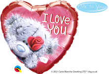 "18"" TATTY TEDDY I LOVE YOU FOIL"