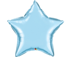 "36"" STAR PEARL LIGHT BLUE PLAIN FOIL"