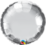 "Qualatex 22451 9"" Round Silver Foil"