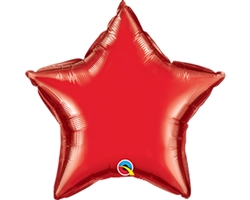 "Qualatex 22883 4"" Star Ruby Red Foil"