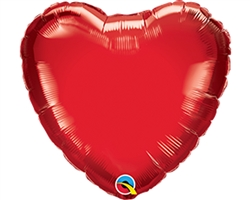 "Qualatex 23402 4"" Heart Ruby Red Foil"