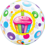 Single Bubble Birthday Candles & Frosting
