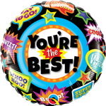 "18"" ROUND YOU'RE THE BEST ACCOLADES FOIL BALLOON"