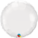 "Qualatex 24169 9"" Round White Foil"