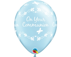 On Your Communion Pearl Light Blue Latex