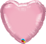 "Qualatex 27164 4"" Heart Pearl Pink Foil Balloon"